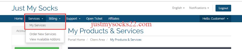 Just My Socks 使用教程