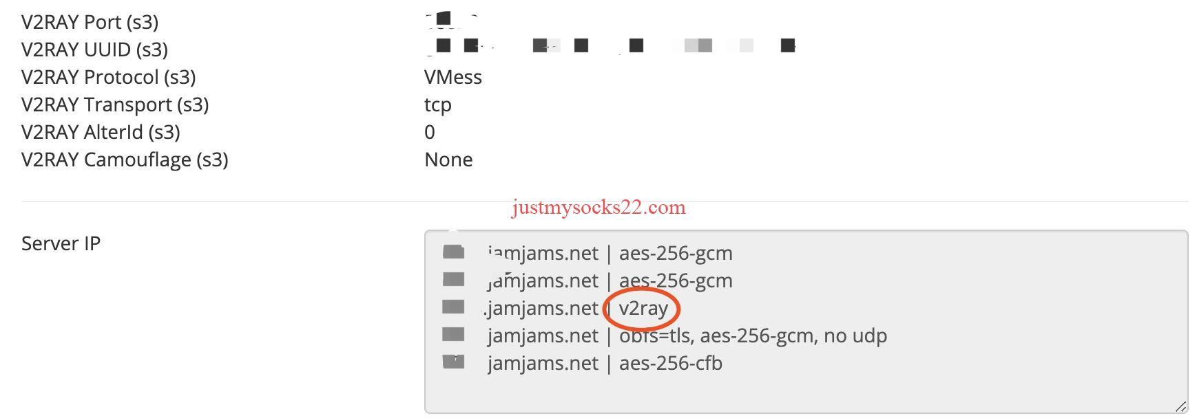 JustMySocks 引入 V2 协议